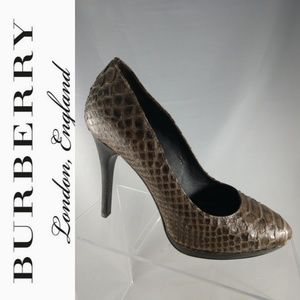 Burberry Authentic Python snake women heels shoes